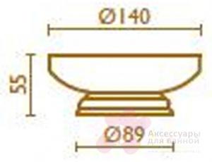 Мыльница Bagno&Associati Opera OP72592 настольная бронза