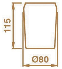 Стакан Bagno&Associati Opera OP74535 настольный стекло кракелюр