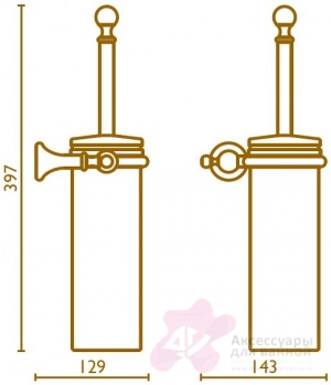 Ершик Bagno&Associati Regency RE22151 подвесной хром