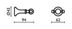 Крючок Bagno&Associati Regency RE24251 двойной хром