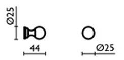 Крючок Bagno&Associati Regency RE24351 одинарный хром
