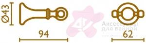 Крючок Bagno&Associati Regency RE24551 двойной хром