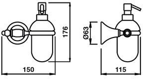 Дозатор для жидкого мыла Bagno&Associati Tempo TM 127 подвесной бронза