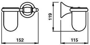 Стакан Bagno&Associati Tempo TM 143 настенный бронза