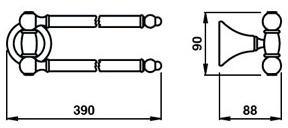 Полотенцедержатель Bagno&Associati Tempo TM 214 двойной бронза