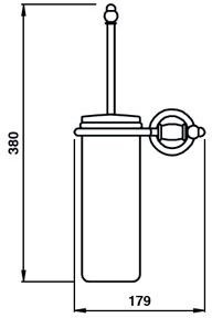 Ерш Bagno&Associati Tempo TM 221 для туалета настенный бронза