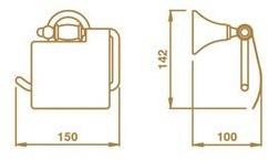Бумагодержатель Bagno&Associati Tempo TM 236 закрытый бронза