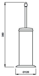 Ерш Bagno&Associati Tempo TM 253 для туалета напольный бронза