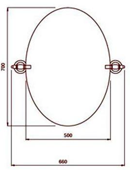 Зеркало Bagno&Associati Specchi TM 412 51 настенное 50 х 70 см хром