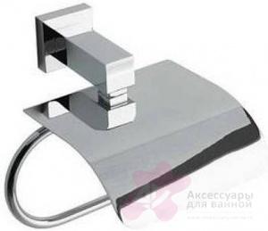 Бумагодержатель Bandini Ice Cube 6914/IC закрытый хром