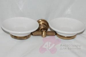 Мыльница Bandini Antica Classic 6951/00 CR подвесная двойная хром