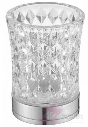 Стакан Boheme Royal Crystal 10213 настольный хром / хрусталь