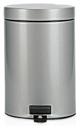 Ведро мусорное Brabantia 247620 с педалью (3 литра Metallic Grey (серый металлик
