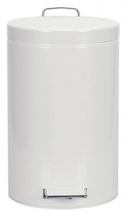 Ведро мусорное Brabantia 283703 с педалью (12 литров мет. ведром White (белый