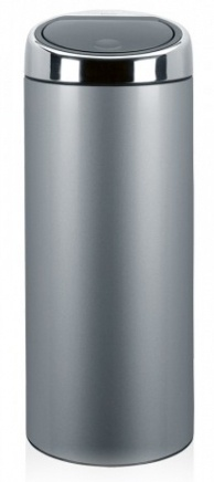 Ведро мусорное Brabantia 287404 Touch Bin (30 литров Metallic Grey (серый металлик