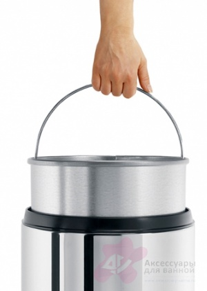 Корзина  Brabantia  287527 для бумаг (30 литров несгораемая Brilliant Steel (сталь полированная