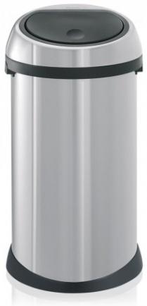 Ведро мусорное Brabantia 288661 Touch Bin (50 литров Matt Steel (сталь матовая