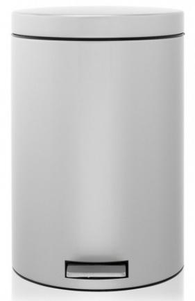 Ведро мусорное Brabantia 288760 с разделителем (20 литров Metallic Grey (серый металлик