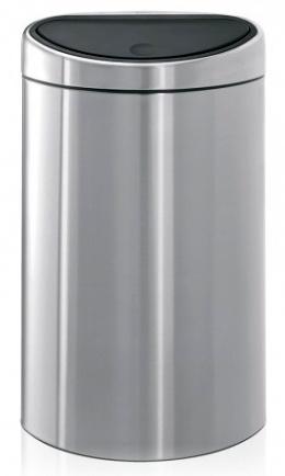 Ведро мусорное Brabantia 348549 Touch Bin (40 литров Matt Steel (сталь матовая