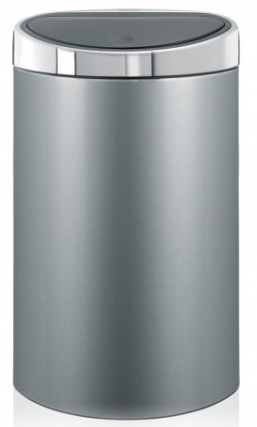 Ведро мусорное Brabantia 361722 Touch Bin (40 литров Metallic Grey (серый металлик