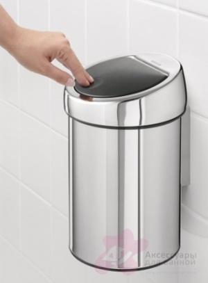 Ведро мусорное Brabantia 363962 Touch Bin (3 литра Brilliant Steel (сталь полированная