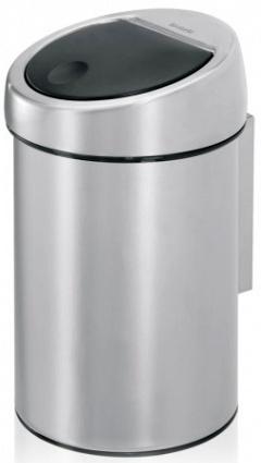 Ведро мусорное Brabantia 363986 Touch Bin (3 литра Matt Steel (сталь матовая