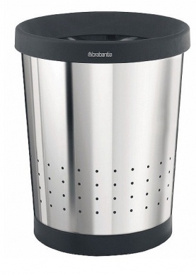 Корзина Brabantia 364327 для бумаг (11 литров Brilliant Steel (сталь полированная