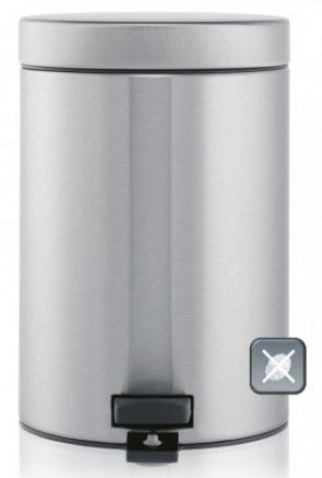 Ведро мусорное Brabantia 369520 с педалью (3 литра Matt Steel Fingerprint Proof (сталь матовая с защитой от отпечатков пальцев