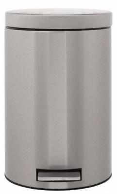 Ведро мусорное Brabantia 369568 с педалью (12 литров Matt Steel Fingerprint Proof (сталь матовая с защитой от отпечатков пальцев