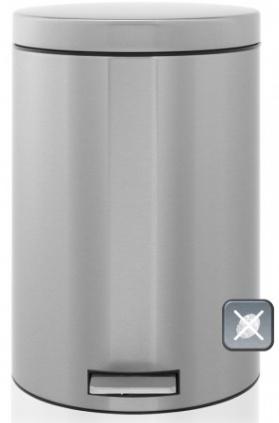 Ведро мусорное Brabantia 369582 с разделителем (20 литров Matt Steel Fingerprint Proof (сталь матовая с защитой от отпечатков пальцев