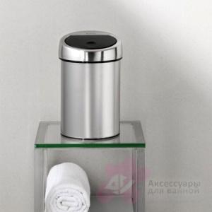 Ведро мусорное Brabantia 378645 Touch Bin (3 литра Matt Steel Fingerprint Proof (сталь матовая с защитой от отпечатков пальцев