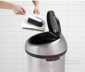 Ведро мусорное Brabantia 378706 Touch Bin (50 литров Matt Steel Fingerprint Proof (сталь матовая с защитой от отпечатков пальцев