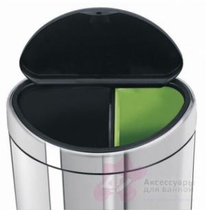 Бак мусорный Brabantia 378720 Touch Bin (10/23 литра Matt Steel Fingerprint Proof (сталь матовая с защитой от отпечатков пальцев