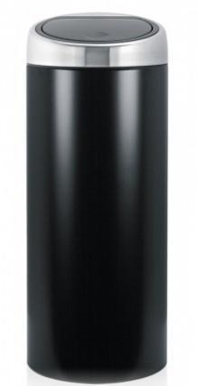 Ведро мусорное Brabantia 378744 Touch Bin (30 литров Matt Black Fingerprint Proof (черный матовый с защитой от отпечатков пальцев
