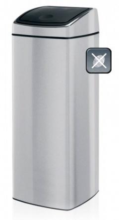Ведро мусорное Brabantia 384929 Touch Bin квадратное (25 литров Matt Steel Fingerprint Proof (сталь матовая с защитой от отпечатков пальцев