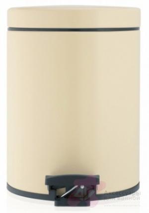 Ведро мусорное Brabantia 390142 с педалью (5 литров Almond (миндальный