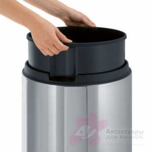 Ведро мусорное Brabantia 390821 Touch Bin De Luxe (45 литров Brilliant Steel (сталь полированная
