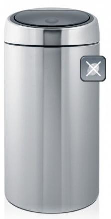 Ведро мусорное Brabantia 390845 Touch Bin De Luxe (45 литров Matt Steel Fingerprint Proof (сталь матовая с защитой от отпечатков пальцев