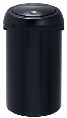 Ведро мусорное Brabantia 391729 Touch Bin (50 литров Matt Black (черный матовый