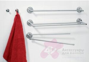 Полотенцедержатель Brabantia 395260 одинарный длиной 62,4 см Matt Steel (сталь матовая