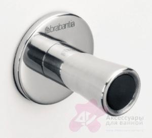 Крючок Brabantia 395406 одинарный (2 штуки Brilliant Steel (сталь полированная