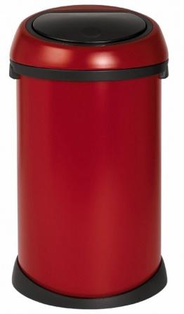 Ведро мусорное Brabantia 395543 Touch Bin (50 литров Deep Red (темно-красный