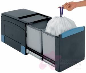 Ведро мусорное Brabantia 395666 (2х18 литров встраиваемое Black (черный