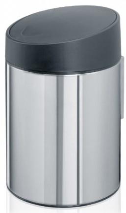 Ведро мусорное Brabantia Slide Bin 397127 (5 литров Brilliant Steel (сталь полированная