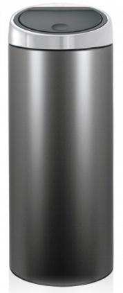 Ведро мусорное Brabantia 399664 Touch Bin (30 литров Platinum with Matt Steel Lid (платина с матовой стальной крышкой