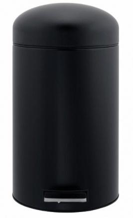Ведро мусорное Brabantia Retro Bin 400940 с педалью (12 литров Matt Black (черный матовый