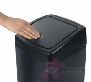 Ведро мусорное Brabantia 415906 Touch Bin квадратное (25 литров Matt Black (черный матовый