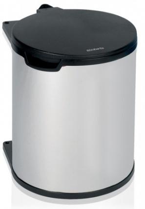 Ведро мусорное Brabantia 418181 (15 литров встраиваемое Brilliant Steel (сталь полированная