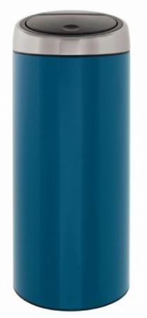 Ведро мусорное Brabantia 424663 Touch Bin (30 литров Vintage Blue Fingerprint Proof Lid (синий винтажный с защитой от отпечатков пальцев