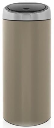 Ведро мусорное Brabantia 425004 Touch Bin (30 литров Taupe (темно-серый